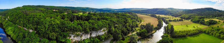 Camping Le Vezere Perigord Drone