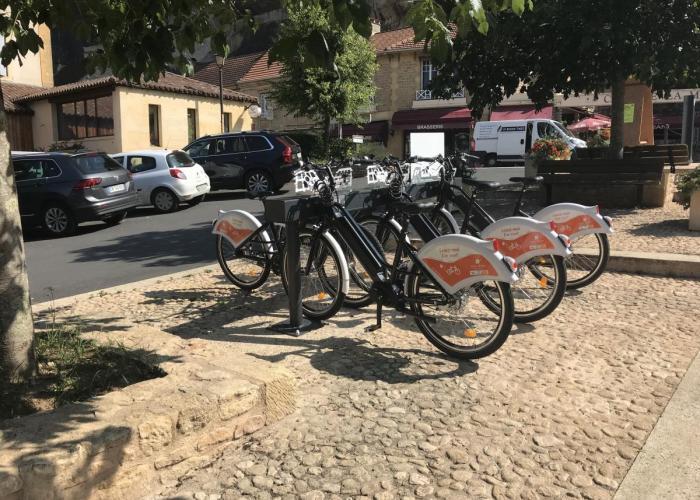 station de location de vélos électriques des Eyzies