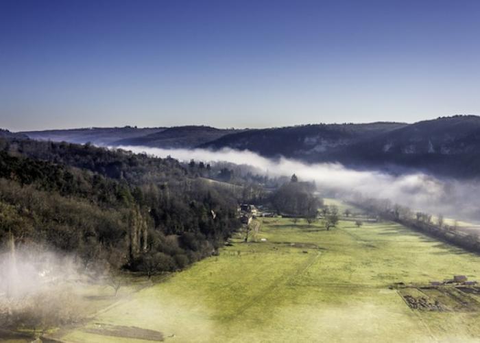 La vallée Vézère en Hiver