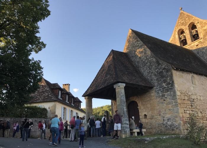 El pueble de Savignac de Miremont en la valle de la Vézère