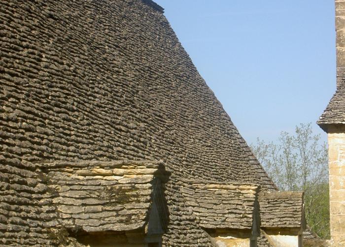 Entre la chapelle aubareil et valojoulx, toit de lauze