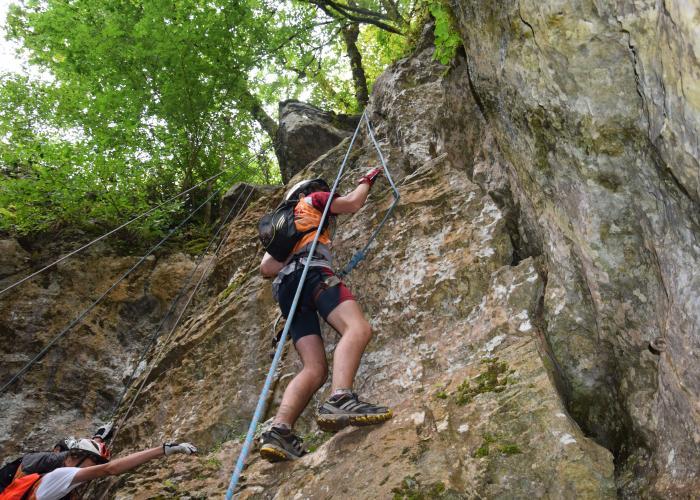 Escalade Randonnée en vallée Vézère ©CG24