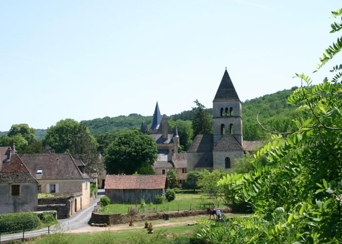 Village of Saint Léon sur Vézère on Vezere valley