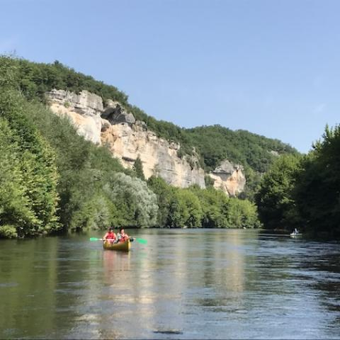 Balade en canoës sur la Vézère - Les Eyzies ©A.Borderie