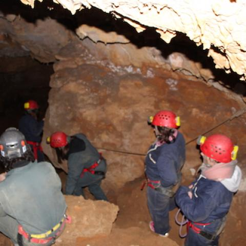 Speleology in Vezere valley