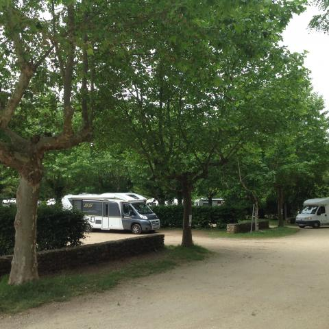 Les Eyzies, service area for camping car©ALR