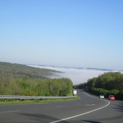 On the road, Vézère valley