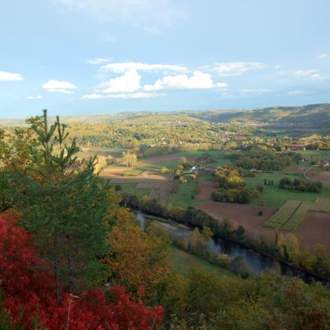 Vue de la vallée Vézère depuis la Côte de Jord